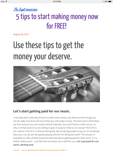 Get your copy of 5 tips to start making money now for FREE!